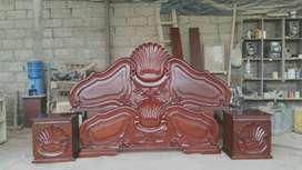 Fabricación de camas talladas
