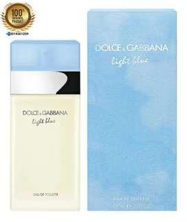 Perfume Dolce Gabbana Light Blue Mujer 100 Ml Original Sellado