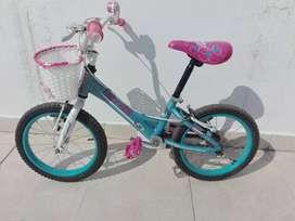 Bicicleta Marca Lazy Kids, rod 14, excelente estado