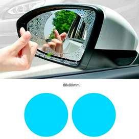 2 Películas Antiempañante para Espejos Retrovisores carro    8X8 cm
