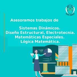 Trabajos de Sistemas dinámicos, Diseño estructural, Electrotecnia, Matemáticas especiales, Lógica matemática