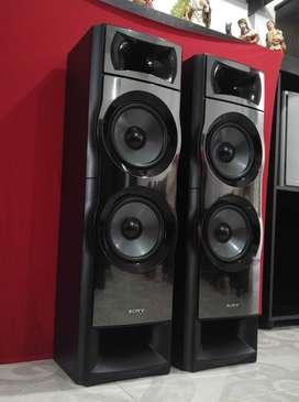 "Parlantes torres Sony SS MSP7M + 2 vias + Doble cono 8"" + 255 watts + 6 ohmios + Excelentes"