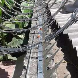 Venta de concertinas, mallas galvanizadas, olimpica, alambre de puas