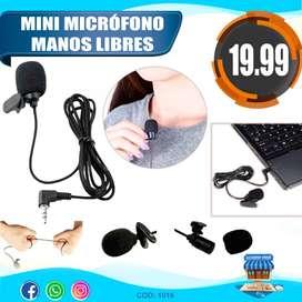Mini micrófono de 3.5 mm perchero