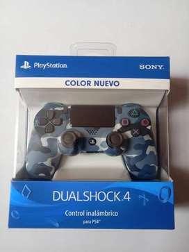 Control Ps4 Camuflado Militar Azul Casi Nuevo Y Sellado