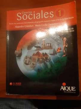 libro secundario ciencias sociales 1 año  edit  aique el mundo en tus manos