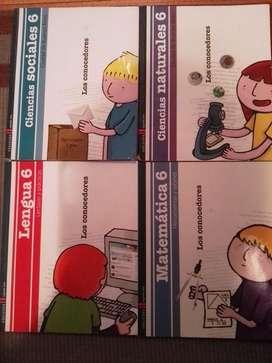 Libros Lengua 6, Matemáticas 6, Ciencias Sociales 6 y Cs Naturales 6