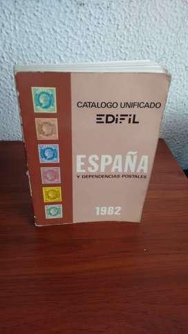 CATALOGO UNIFICADO Y ESPECIALIZADO ESPAÑA 1982