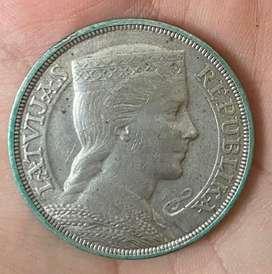 1931 UNC 5 Pieci Lati Silver