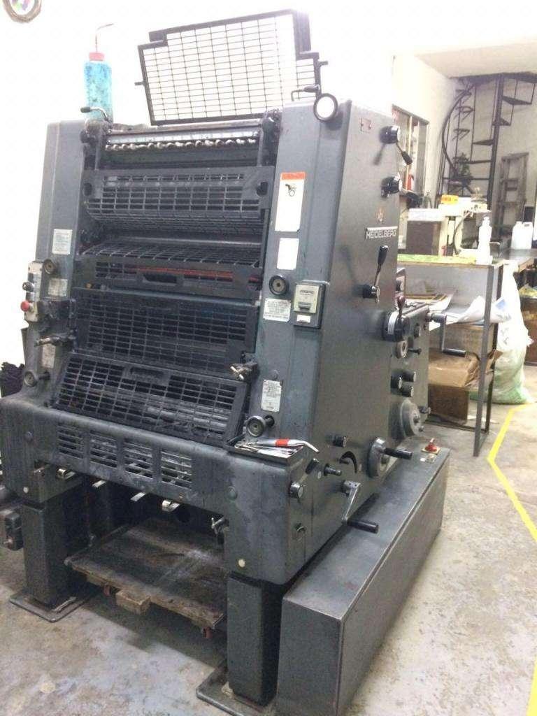 Máquina Litográfica HEIDELBERG GTO 52 monocolor ,con NEVERA  23'500.000 0