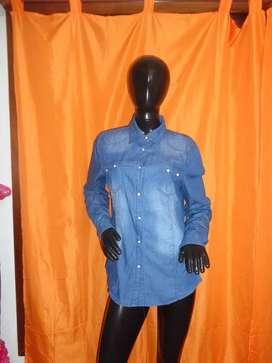 Camisa de jeans mujer