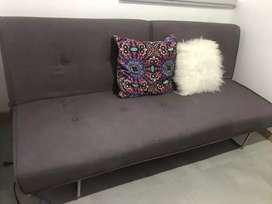 Vendo sofá cama gris