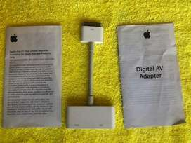 Adaptador Apple 30-Pin AV Digital Original. Modelo:  MD098ZM/A