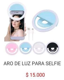 mini Aro de luz led recargable portátil para selfie en celular tablet