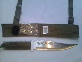 Cuchillo Militar De Camping Con Estuche