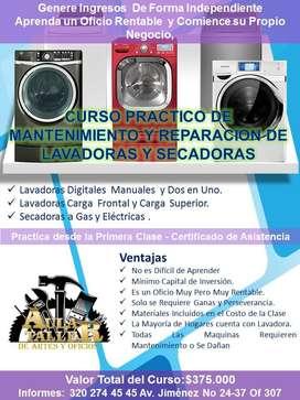 Curso Practico de Mantenimiento y Reparación de Lavadoras y Secadoras