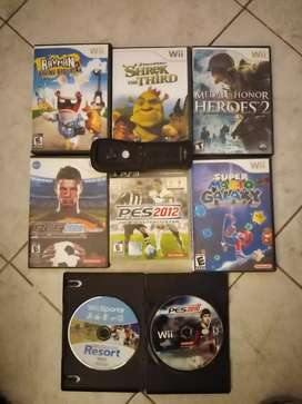 Juegos Wii, Ps3, y mando control wii