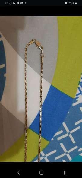 Cadena oro laminado de 18 K, garantía de por vida