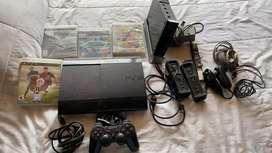 Playstation con 4 juegos y control original además de una Wii con controles y cargador original productos de calidad