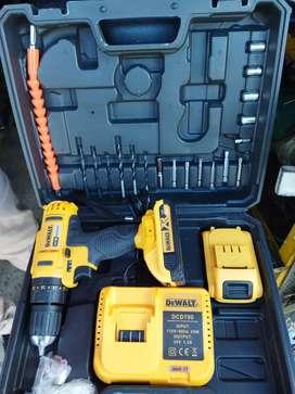 Promoción Taladro inalámbrico marca DEWALT 24V atornillador percutor con kit de accesorios