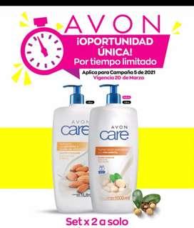 Crema corporal Avon Care