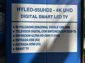 SMART TV HYUNDAI 55 4K HYLED UHD2 NUEVO