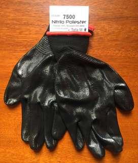 Guantes de nylon recubiertos en nitrilo
