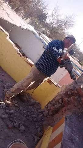 Albañil ago trabajos de albañileria y demoliciones