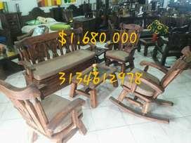 Hermosos muebles 100% rusticos