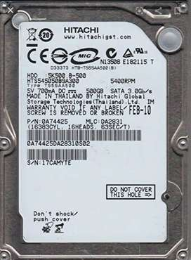 Disco duro HITACHI 500GB
