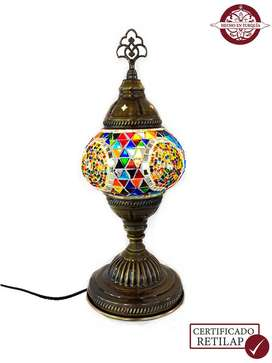 Lámpara turca de mesa en torre #2