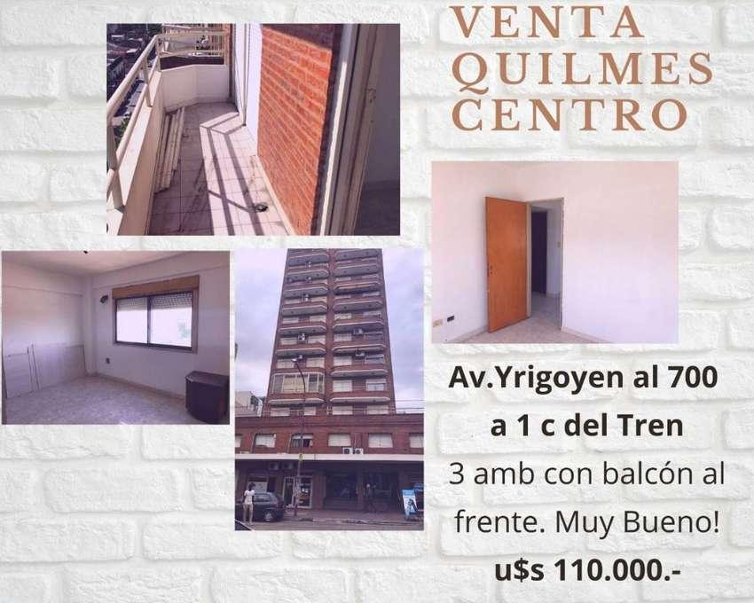 Depto 3 amb con balcón al Frente - a 1 Cuadra de Est Quilmes 0