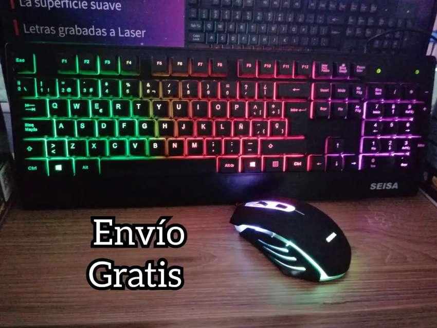 Combo Gamer teclado y mouse iluminados
