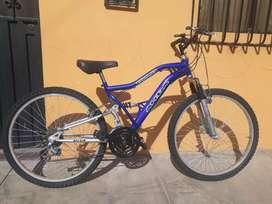 Vendo bicicleta doble amortiguador con aros de aluminio