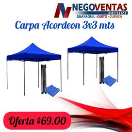 CARPA 3X3 ACORDEON REFORZADA