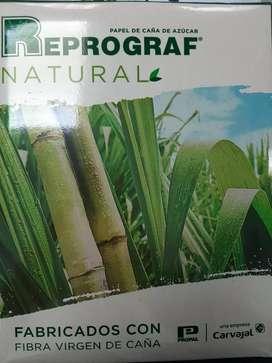 Caja resmas papel ecologico natural copy reprograf