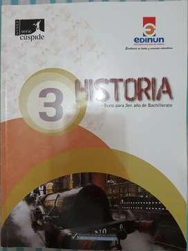 Libro de historia para 3er año de bachillerato