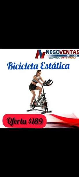 Bicicleta estática de ejercicios en casa reforzada