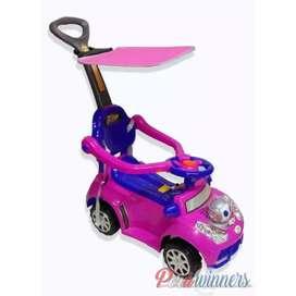 Carro de niño o niña electrónico con luces