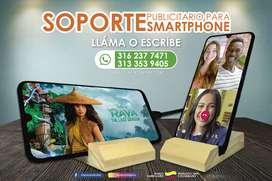 Soporte Smartphone en madera