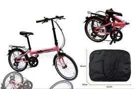 Bicicleta Plegable Con Bolso De Transporte Incluido