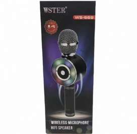 Micrófono Radio Bluetooth Recargable Karaoke WS-669