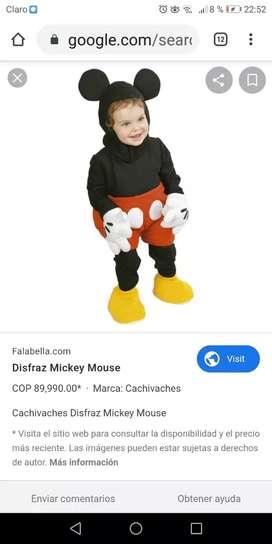 Vendo disfraz de mickey