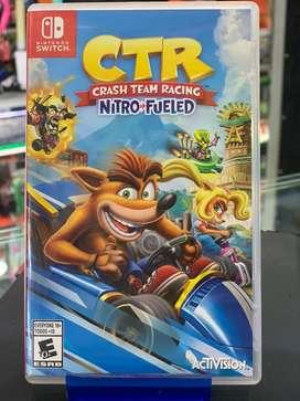 Juego crash CTR Nintendo switch usado