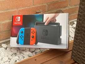 Nintendo Switch Color Rojo Neón, Azul Neón + Mario Kart 8