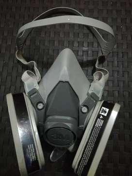 Tapabocas Respirador 3m 6200+filtro 6001