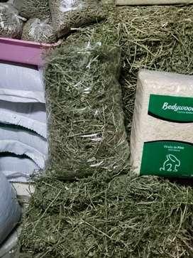 Heno alfalfa,conejin,viruta cobayos y conejos