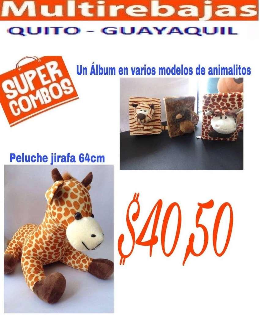 Gran Oferta Peluche Jirafa y Album en Varios Modelos