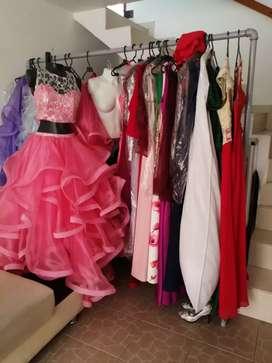 Vendo 45 vestidos para negocio de alquiler