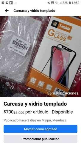 Carcasa y vidrio templado